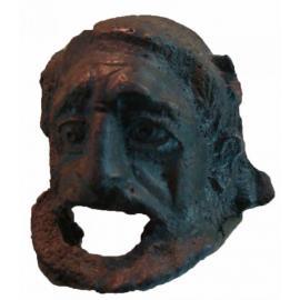 Бронзовая трагическая маска (атташ сосуда) II-III вв.н.э.